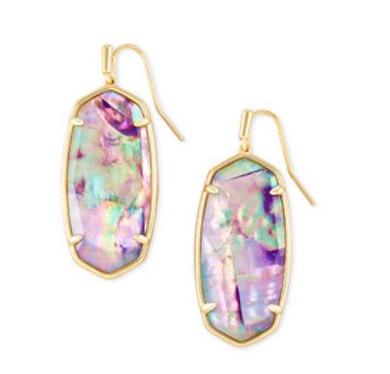 Kendra Scott Faceted Elle Gold Drop Earrings