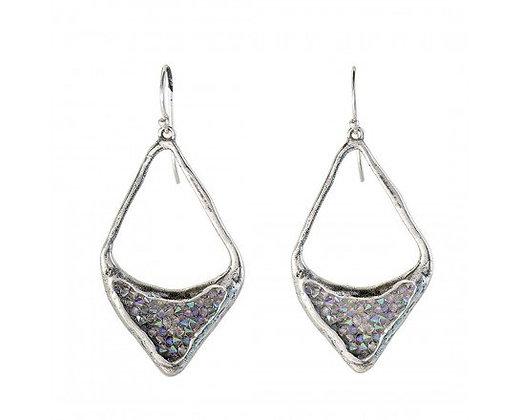 Waxing Poetic Kristal Kite Diamond Earrings - Sterling Silver & Swarovski Crysta