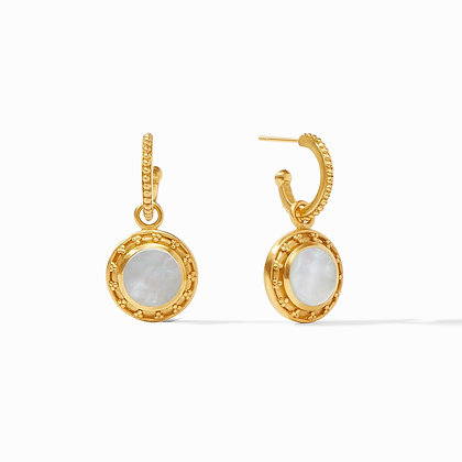 Julie Vos Sofia Hoop & Charm Earrings