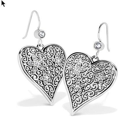 Baroness Fiori Heart French Wire Earrings