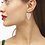 Thumbnail: Ansley Heart Gold Drop Earrings In Rose Quartz
