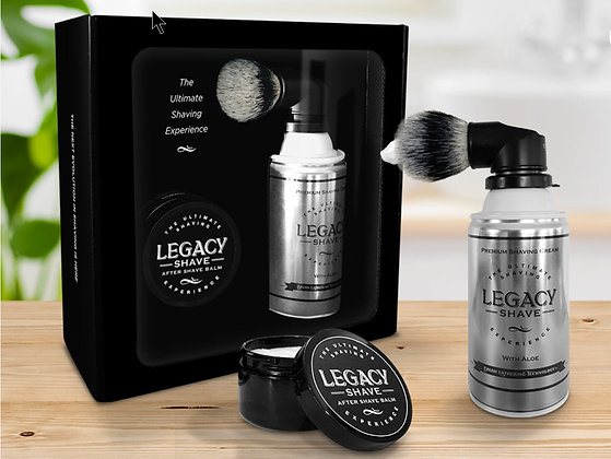 Ultimate shave brush and balm set