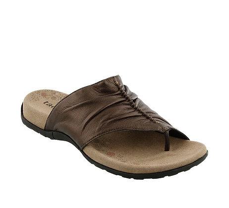 Taos Sandal in Cocoa Metallic