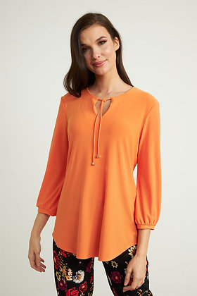 Ribkoff Tie Neck 3/4 Sleeve Top