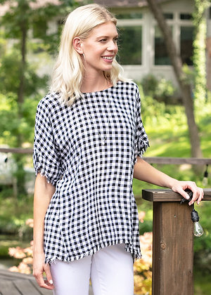 Black and White check top
