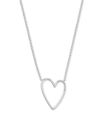 Kendra Scott Ansley Heart Pendant Necklace In Silver