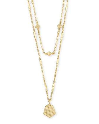 Kendra Scott Clove Multi Strand Necklace In Gold and BVS Metal