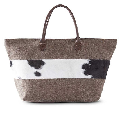 Tote with Goat Hide