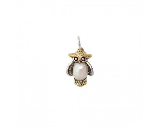 Waxing Poetic Pearl of Wisdom Owl Pendant