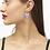 Thumbnail: Ansley Heart Silver Drop Earrings In Amethyst
