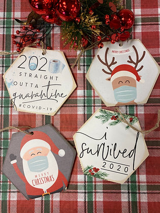2020 Wood Christmas ornaments