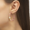 Thumbnail: Lila Vintage Gold Hoop Earrings In Pastel Shells