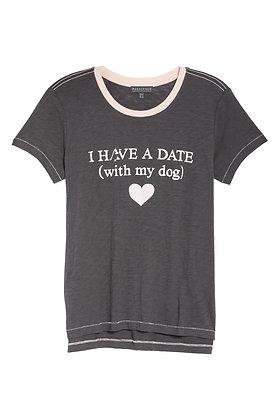 P J Salvage DateWith My Dog Tee
