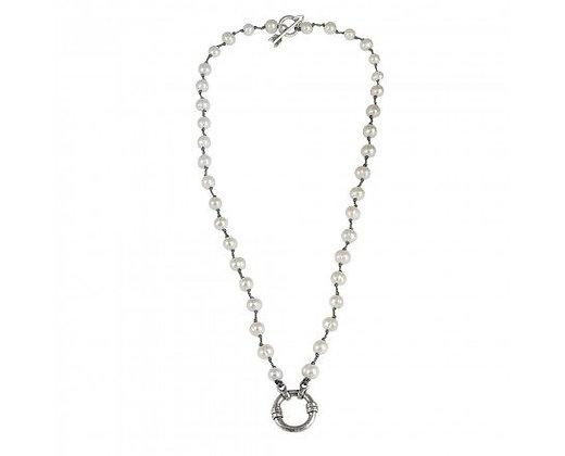 "Waxing Poetic  Boho Soul Pearl Necklace - Cream - 18"""