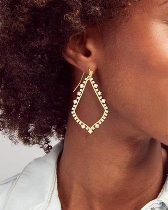 Kendra Scott Sophee Crystal Drop Earrings In Vintage Gold