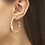 Thumbnail: Lila Vintage Silver Hoop Earrings In Natural Mix