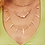 Thumbnail: Lila Vintage Gold Strand Necklace In Pastel Shells