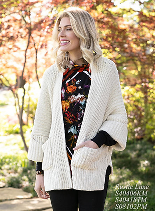 Sharon Young Rustic Luxe Chenille Cardigan