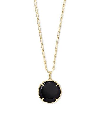 Natalie Gold Long Pendant Necklace