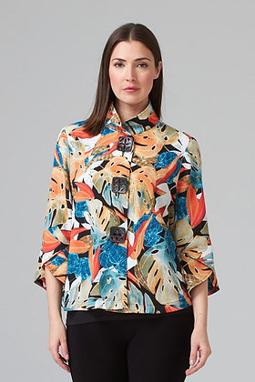 Joseph Ribkoff tropical print jacket