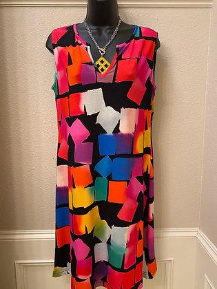 Colorful blocks dress