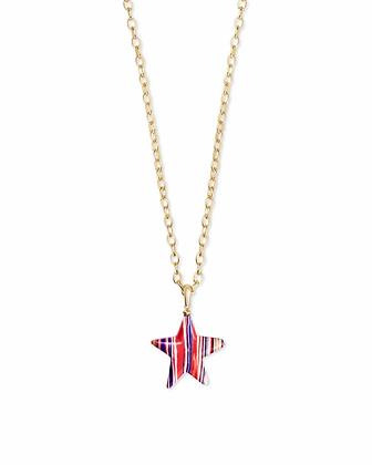 Kendra Scott Carved Jae Star Long Pendant Necklace
