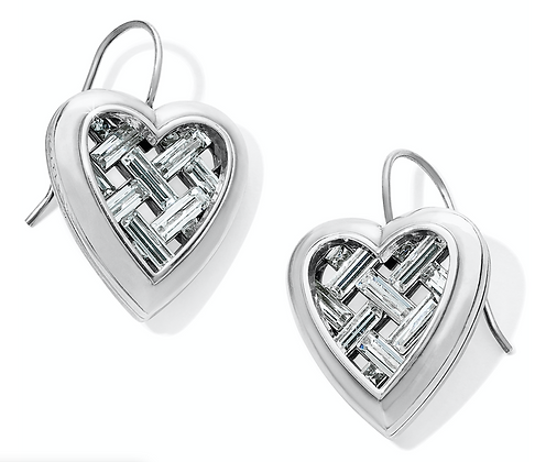 Brighton Love Cage Heart French Wire Earrings