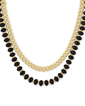 Rebecca Gold Multi Strand Necklace