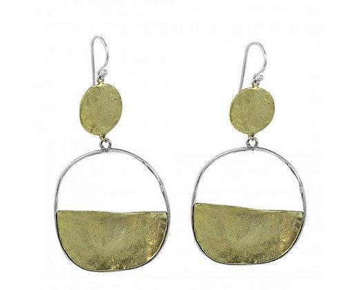 Waxing Poetic Vista Earrings  - Brass