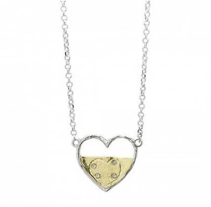 Waxing Poetic One World Heart Necklace