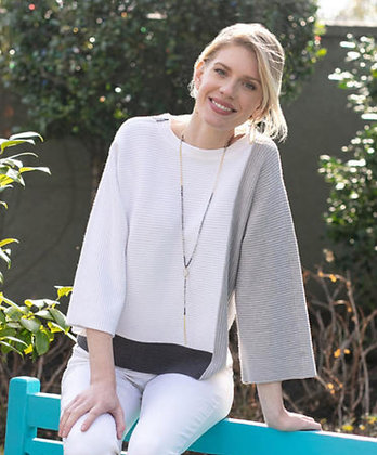 Sharon Young Color Block Sweater
