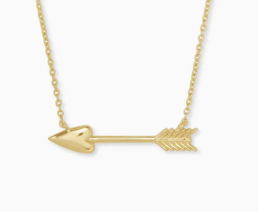 Kendra Scott Zoey arrow necklace gold