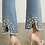 Thumbnail: JOSEPH RIBKOFF Pearl Detail Jeans