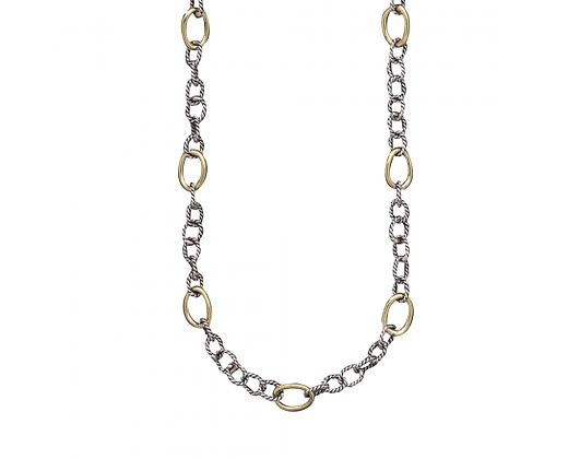 Waxing Poetic Twisted Link with Brass Rings Chain