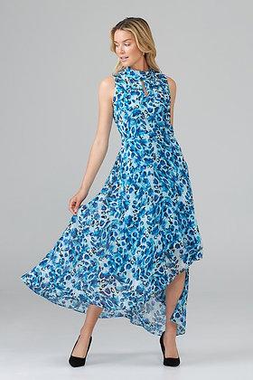 Joseph Ribkoff blue floral long dress