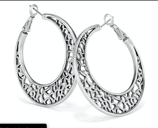 Brighton Fiji Sparkle Hoop Earrings
