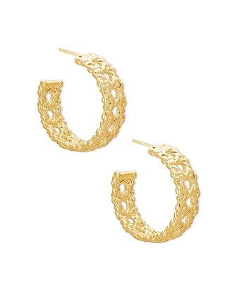Kendra Scott Natalie Gold Hoop Earrings