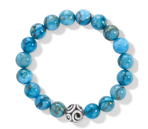 BRIGHTON Contempo Chroma Turquoise Stretch Bracelet