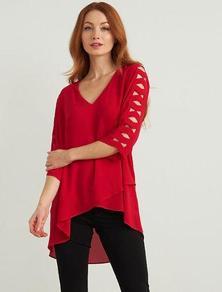 Joseph Ribkoff cut out sleeve blouse