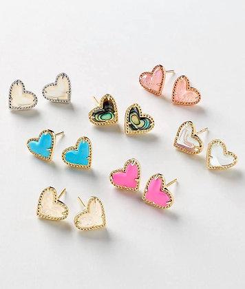 Kendra Scott Ari heart earrings