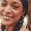 Thumbnail: Lila Gold Hoop Earrings In Matte Sea Green Mix