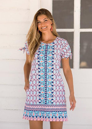 St. Barts Swing Dress with Tie Sleeves