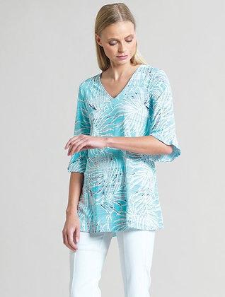 Tropical print tunic