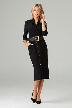 Joseph Ribkoff belted black dress