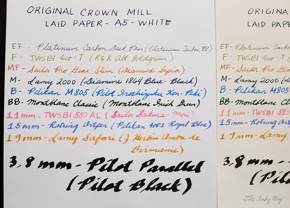 Original Crown Mill Laid Paper - White