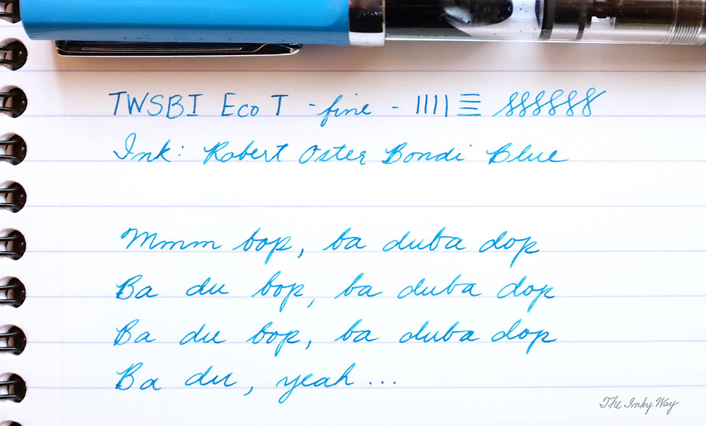 TWSBI Eco-T writing sample