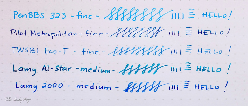 PenBBS 323 writing comparison