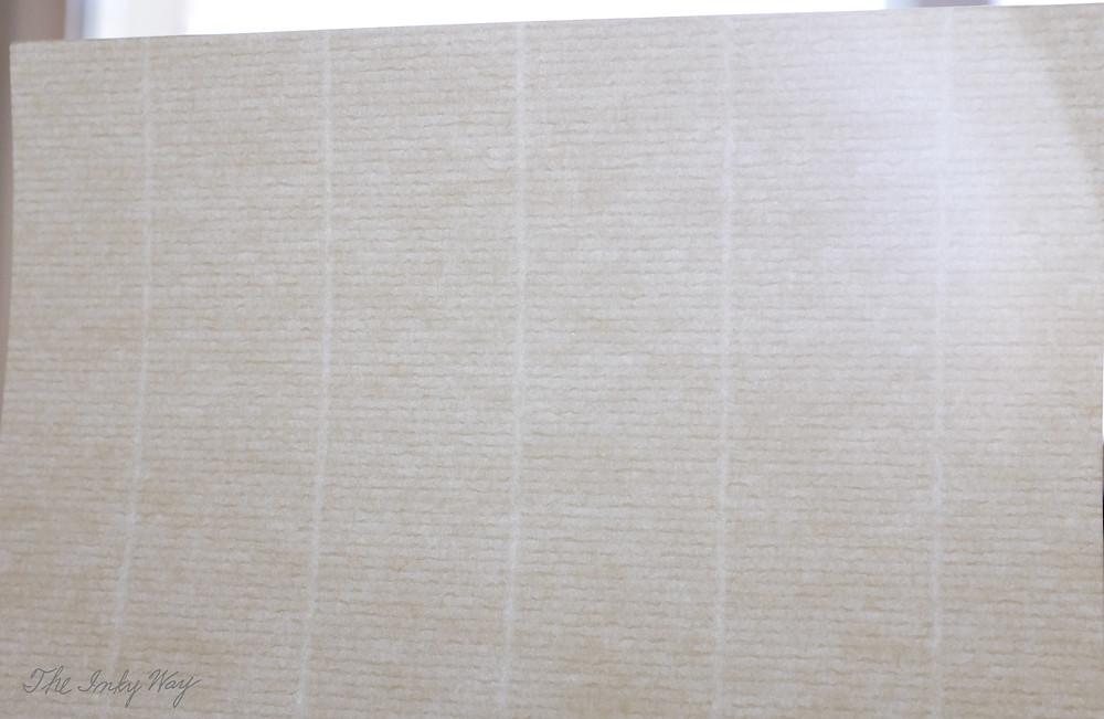 Original Crown Mill Laid Paper shown against the light