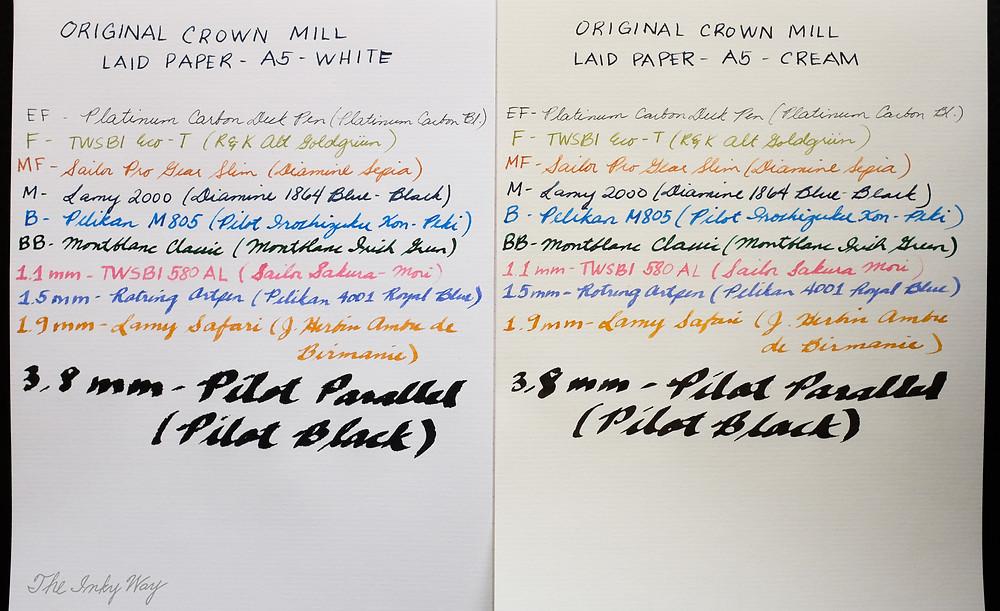 Original Crown Mill Laid Paper Cream and White