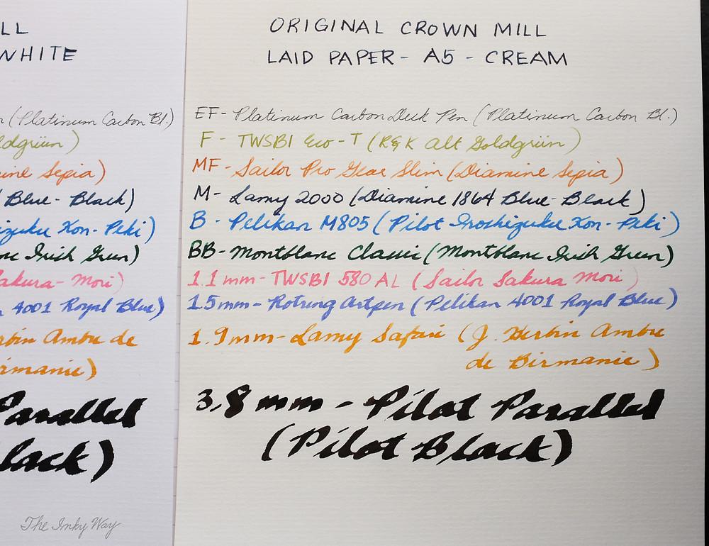 Original Crown Mill Laid Paper - Cream